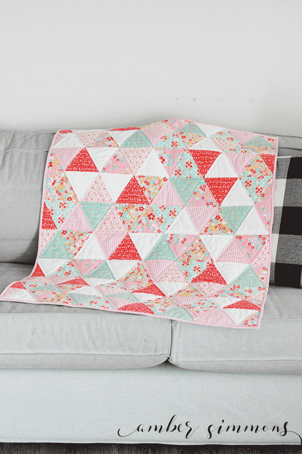 How to make a baby quilt using the Cricut Maker. | ambersimmons.com | #cricutmade #cricutmaker #ad
