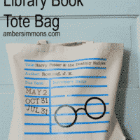 Harry Potter Library Book Tote Bag