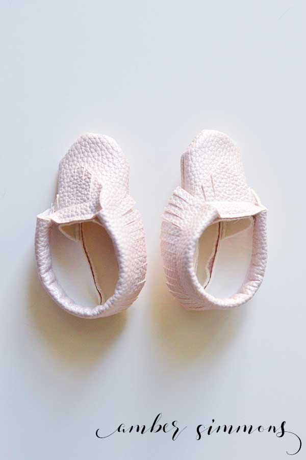 Whip up some cute faux leather baby moccasins by using the Cricut Maker to cut them out. All that's left is the quick assembly process.