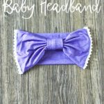 Easy to make giant bow baby headband will have your baby looking adorable and there will be no doubt that your sweet girl is a little lady.