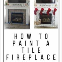 How To Paint a Tile Fireplace