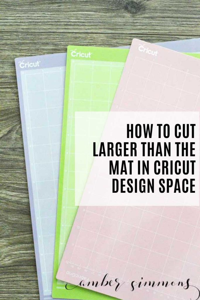 "This tutorial for how to cut larger than the mat in Cricut Design Space will have you cutting larger than 11.5"" wide and 23.5"" long in no time."