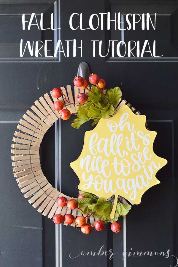 Fall Clothespin Wreath Tutorial Amber Simmons