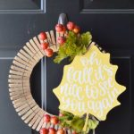 With this fall clothespin wreath tutorial, you will have a festive autumn wreath in no time using items from the dollar store and the Cricut Maker.