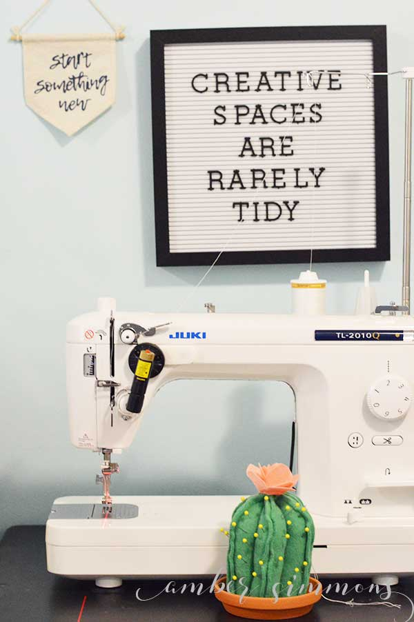 This easy sewing hack tutorial on how to add a laser line to any sewing machine will give you one of the great features of one of those fancy sewing machines for a whole lot less money.