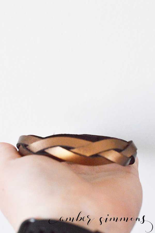 This fun magic braid leather bracelet is made from a continuous piece of leather. How can you braid a continuous piece of leather? It's magic!
