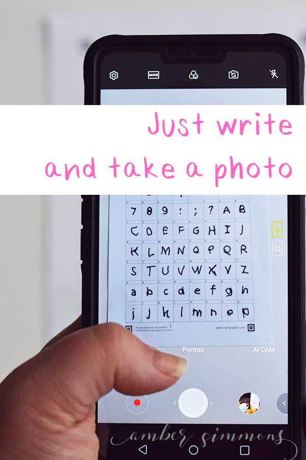 This simple and easy tutorial for how to make your own font will show you two ways to create a font, including Procreate, and have you typing in your own fonts in no time. #diy #handwritten #font