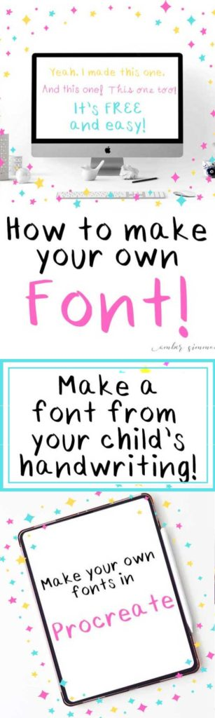 This simple and easy tutorial for how to make your child's handwriting into a font will show you two ways to create a font, including Procreate, and have you typing in your own fonts in no time. #diy #handwritten #font #children #memento #keepsake #kidsactivities #procreate