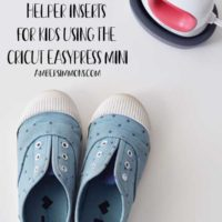 Right and Left Shoe Helper Inserts for Kids Using the Cricut EasyPress Mini