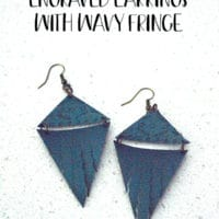 Fringe Faux Leather Earrings Using The New Cricut Engraving and Wavy Tools