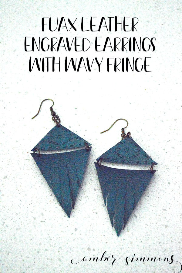 This tutorial for fringe faux leather earrings using the new Cricut engraving and wavy tools will help you step up your Maker game. #ad #cricutmaker #cricutquickswaptools #diyearrings