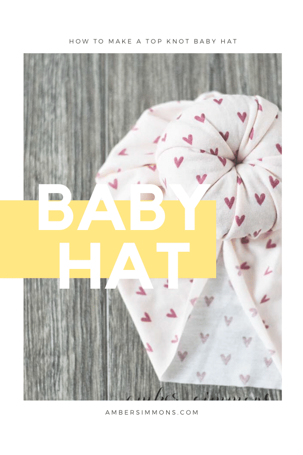 How to make a top knot baby hat