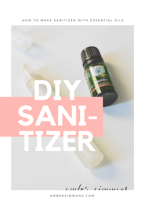 How to make your own two ingredient hand sanitizer with essential oils.