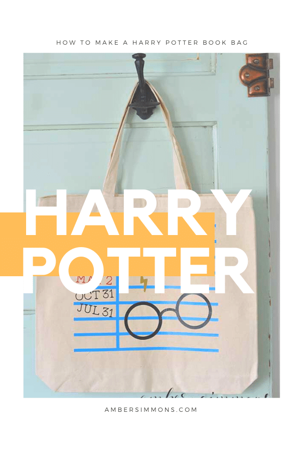 Make your own Harry Potter themed book bag