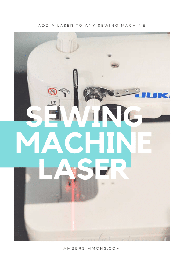 How to add a laser to any sewing machine.