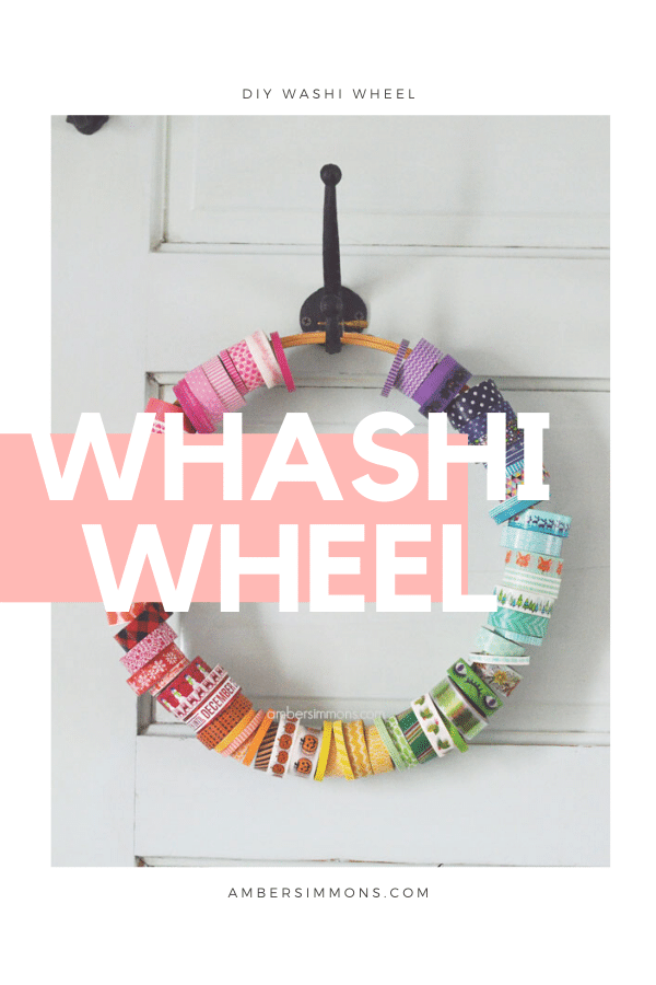 How to make a quick and easy display for all your pretty washi tape.