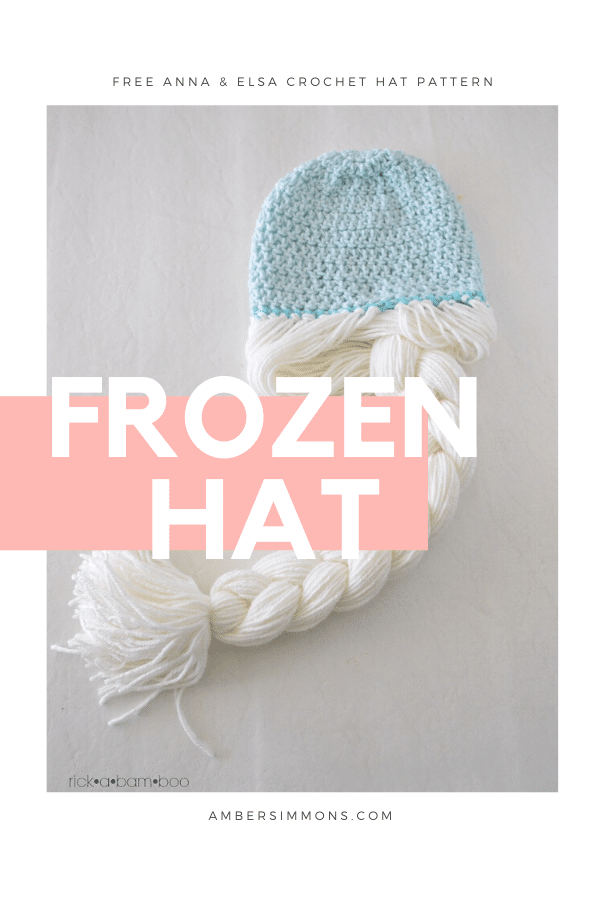 Free crochet pattern to make Anna & Elsa inspired hats with braids.