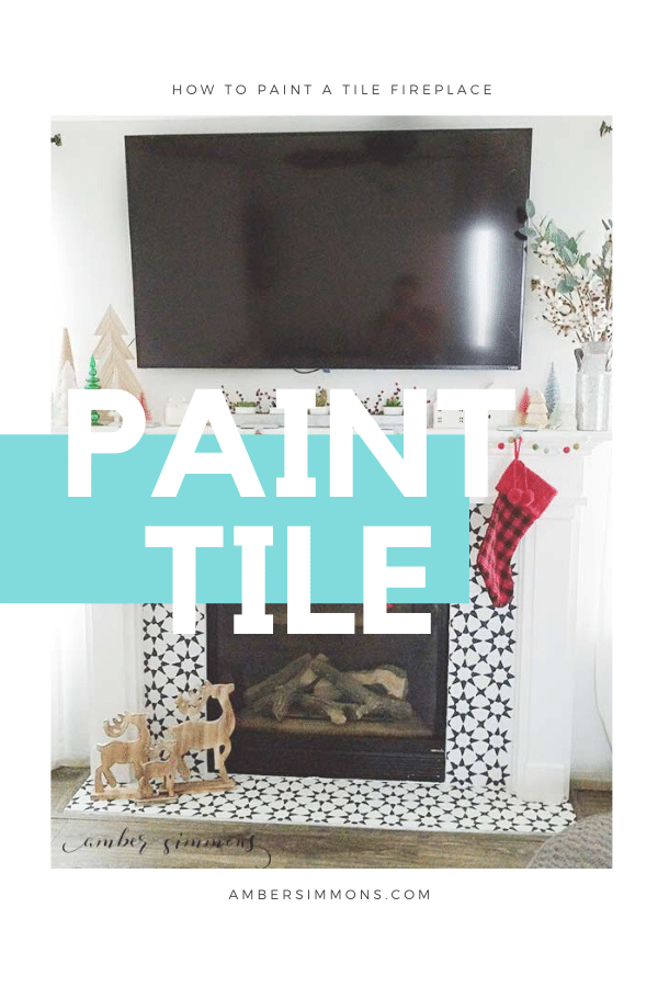 How to paint a tile fire place