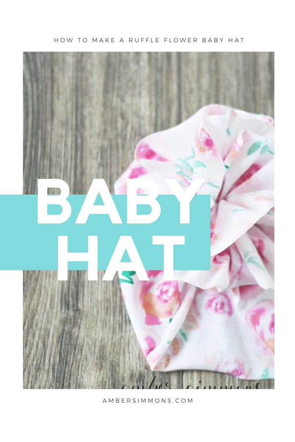How to make a cute ruffled flower baby hat.