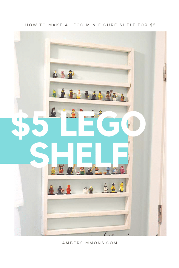 How to make a Lego Minifigure shelf for $5 that holds 150+ Minifigure