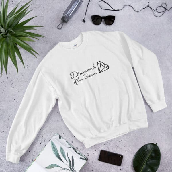 Let everyone know that you're the Diamond of the Season with this cozy sweatshirt.